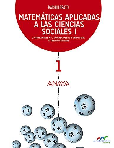 MATEMÁTICAS APLICADAS A LAS CIENCIAS SOCIALES I. BACHILLERATO